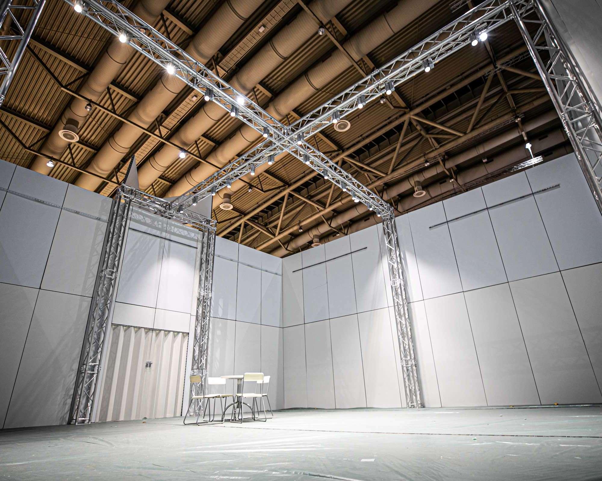Messebau | Standbau | Hannover | Traversen | Lichttechnik | Tontechnik | Beschallung | Planung | Konzeption | Lieferung | Mieten | Anfragen | Buchen | Lehmann | Eventservice